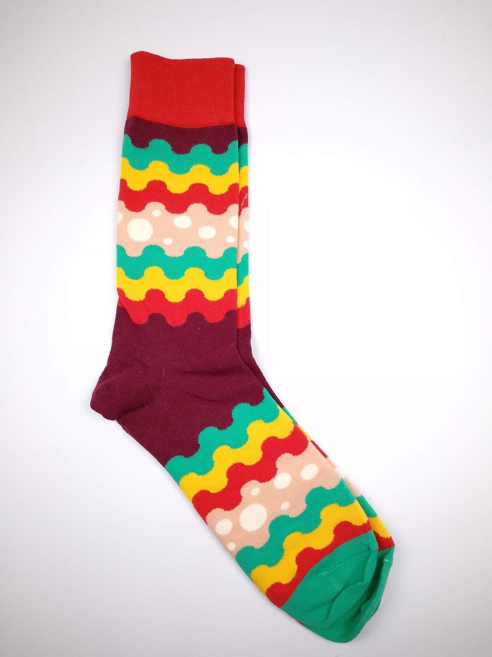 """Шкарпетки з принтом """"Кольорові хвилі"""""""