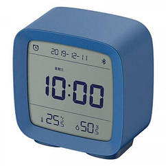 Розумний будильник Xiaomi Mijia Qingping Clock Bluetooth Smart Blue годинник термометр, гігрометр