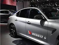 Наклейка Renault на передние двери (белый)