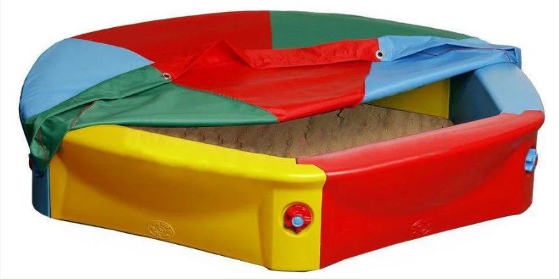 Велика барвиста пісочниця Vipkris з накриттям