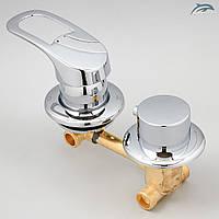 Змішувач для душової кабіни, гідробоксу G2-10 на 2 положення.
