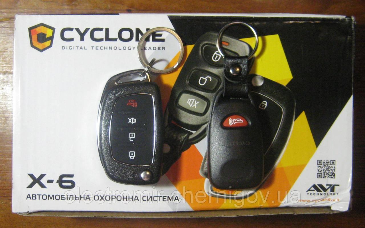 Автосигнализация с выкидным ключом Cyclone X-6