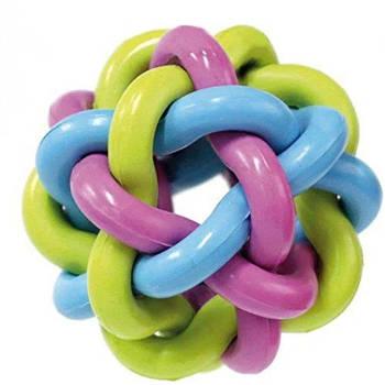 Игрушка для собак CROCI литой мяч крученый, резина 7,5 см