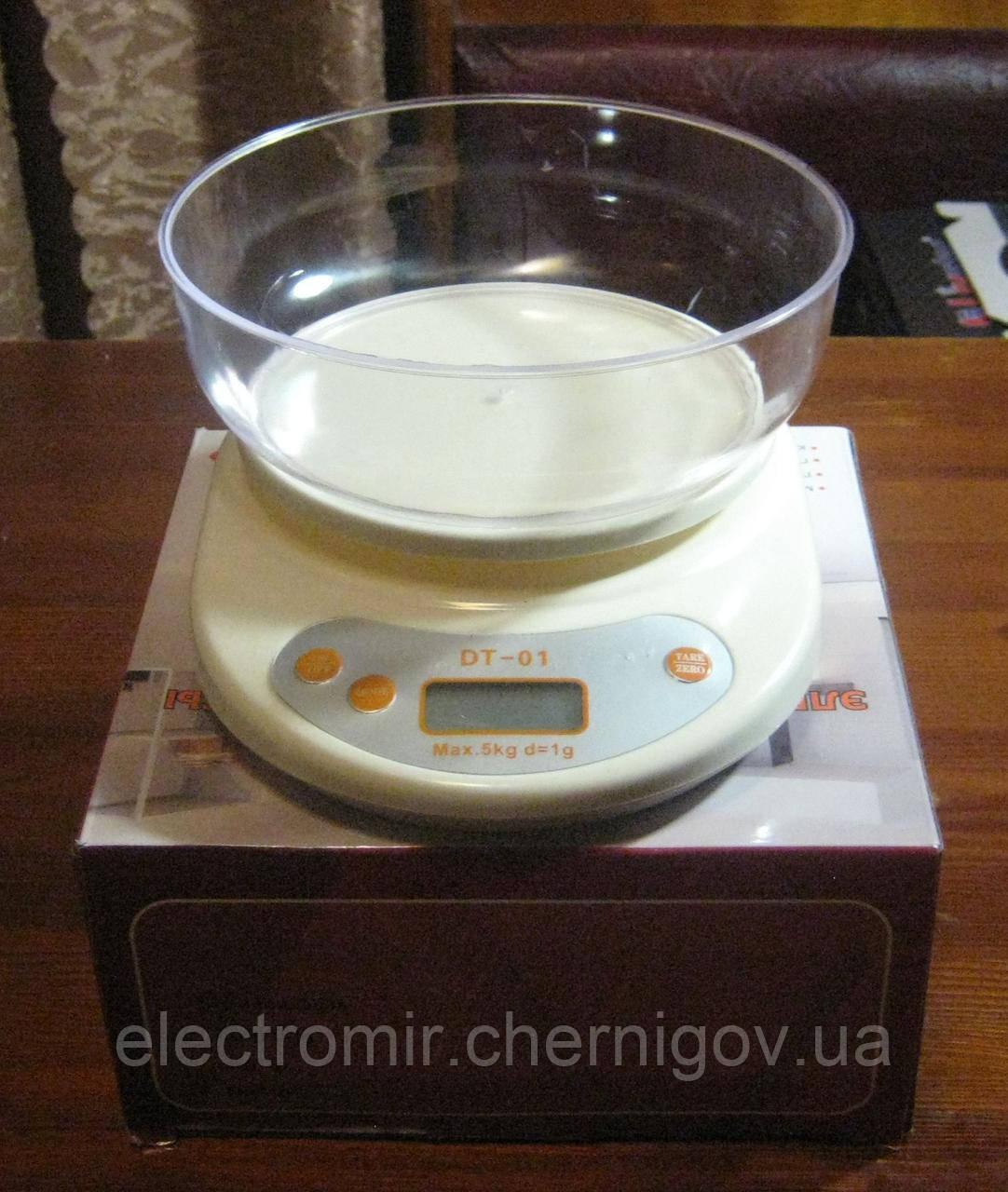 Весы кухонные электронные с чашей D&T DT-01 (до 5 кг)