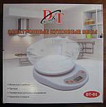 Весы кухонные электронные с чашей D&T DT-01 (до 5 кг), фото 3