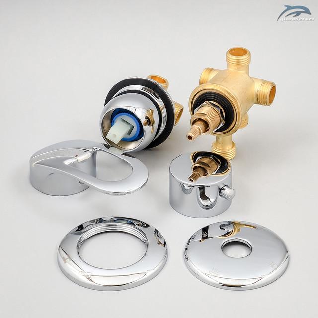 Смеситель для душевых кабин, гидрбоксов G4-200 с соединениями на переключателе под резьбу 1/2 дюйма.