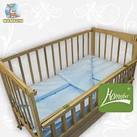 Комплект постельного белья в деткую кроватку, ранфос-голубой