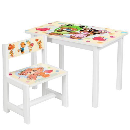 """Детский стол со стульчиком """"Мишки"""" BSM1-27"""