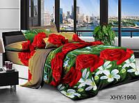 ✅ Двуспальный Евро комплект постельного белья (Поликоттон) TAG XHY1966