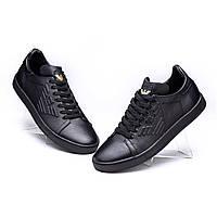 Мужские кожаные кроссовки   Armani из натуральной кожи от производителя