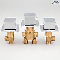Комплект кранов и переключателя на 2 положения для гидромассажной ванны, джакузи J-7000KV., фото 1