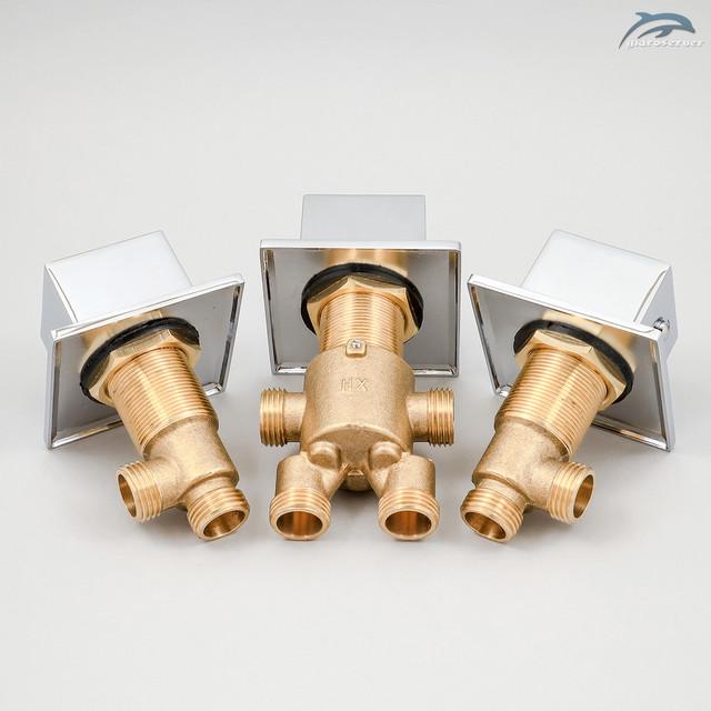 Набор кранов и смесителя-переключателя для гидромассажной ванны, джакузи J - 7000KV.