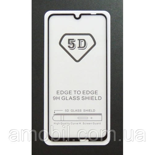 Защитное стекло 5D Huawei P Smart (2019) black