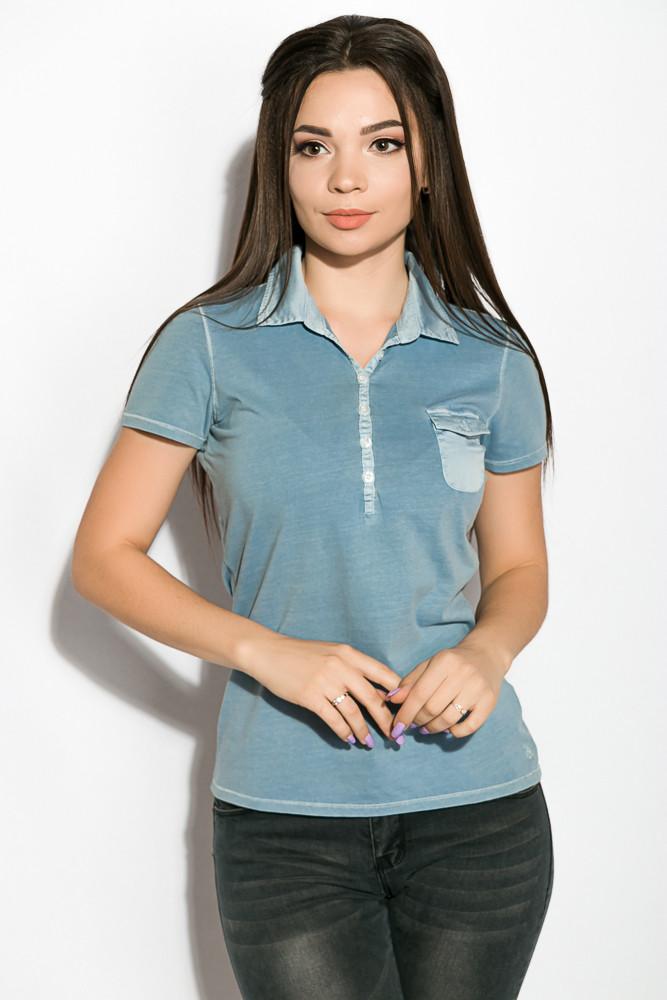 Поло женское цвет Сизый варенка