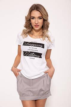 Женская повседневная футболка белого цвета