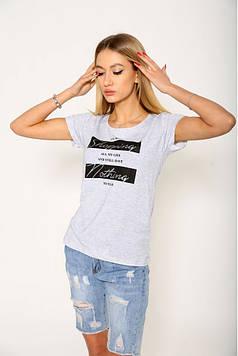 Женская повседневная футболка серого