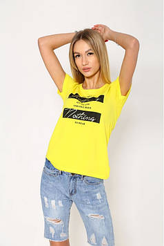 Женская повседневная футболка желтого цвета