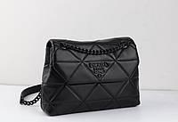 Кожаная женская сумка кросс-боди Prada 24см. Люкс, фирменная упаковка.