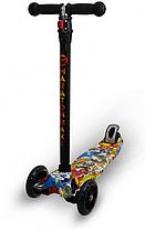 Трехколесный детский самокат Maraton Maxi-B(Разные рисунки/граффити) 3 -х до 8 лет, фото 2
