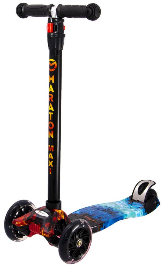 Трехколесный детский самокат Maraton Maxi-B(Разные рисунки/граффити) 3 -х до 8 лет
