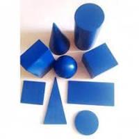 Моделі геометричих тіл та фігур (9 шт) 60*60 мм