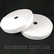 Широкая бельевая резинка для одежды Sindtex белая 2.5 см х 22,5 м (СИНДТЕКС-0054)