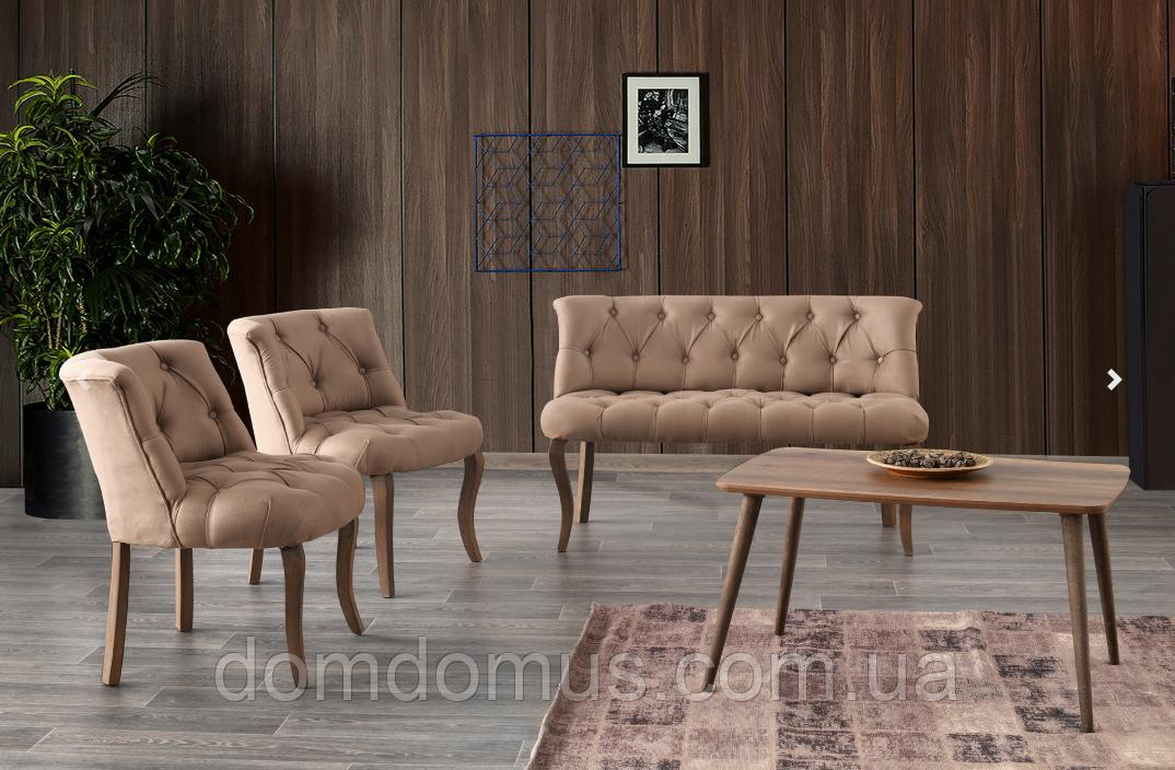 Набор мягкой мебели для гостинец  (софа, 2 кресла, столик журнальный), Mobilgen, Турция