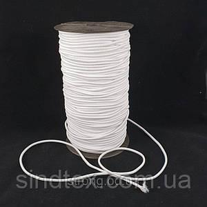 Резинка круглая (шляпная) 2,5 мм. Белая 100 м.