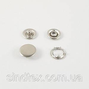 Кнопка BABY (трикотажная) 9,5мм  Никель с закрытой шляпкой (1440шт.) (СТРОНГ-0338)