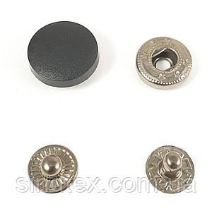 Кнопка Альфа 13,5мм с пластиковой шляпкой 17мм черная 720шт. (СТРОНГ-0308)