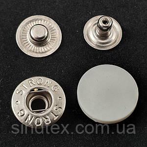 Кнопка АЛЬФА с белой пластиковой шляпкой 17мм (СТРОНГ-0321)