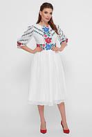 Женское цветастое платье миди в этно стиле Сария 3/4, фото 1
