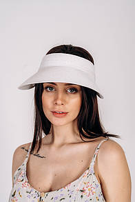 Кепки прозрачные FAMO Кепка соломенная Нэнси белая One size (SHL-2030)
