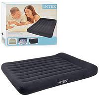 Надувной матрас-кровать Intex 66768 Велюр 137х191х30см