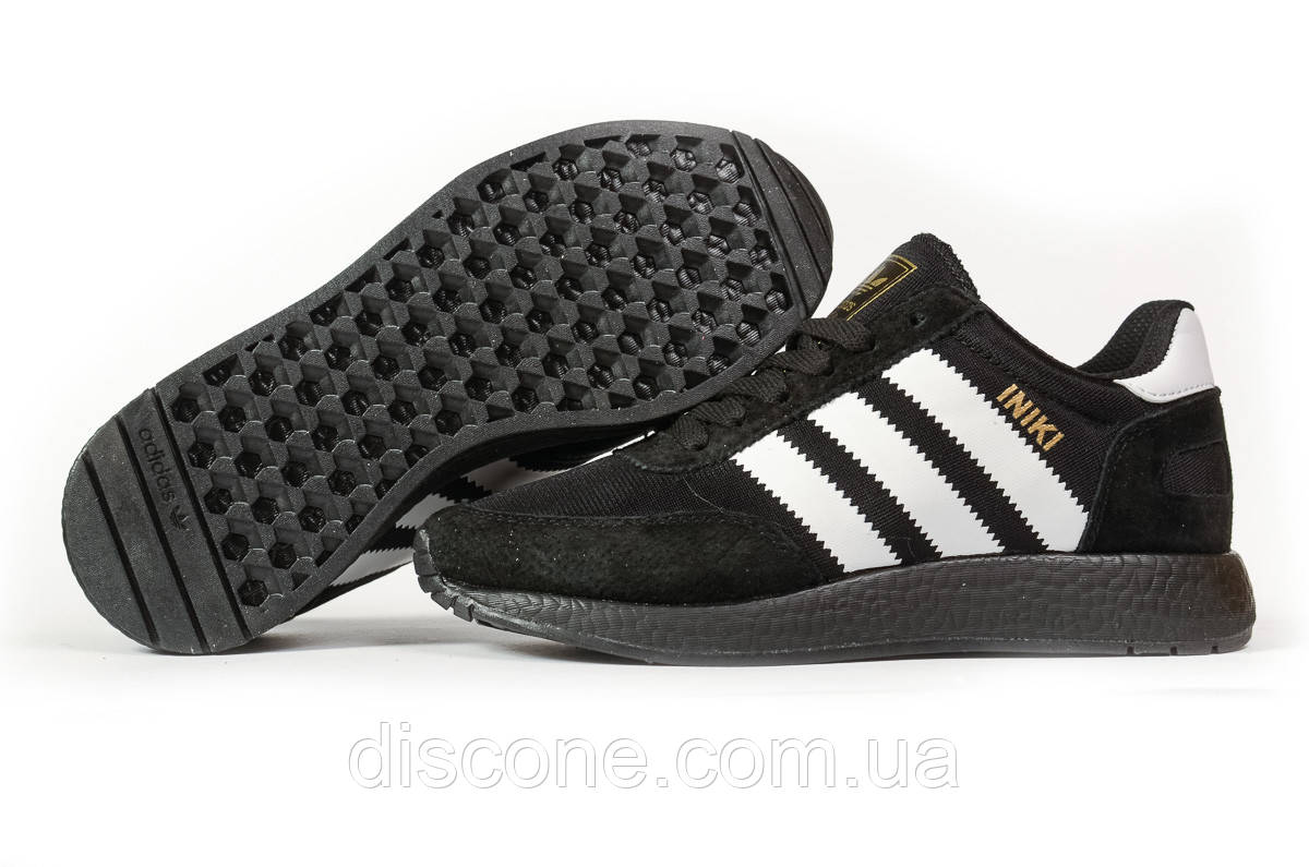 Кроссовки женские 16876 ► Adidas Iniki, черные ✅Скидка 28% [ 37 38 41 ] ► (37-23,0см)