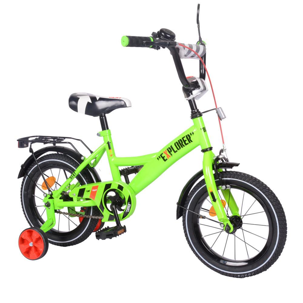 Велосипед двухколесный 14 дюймов Explorer T-21418 зеленый