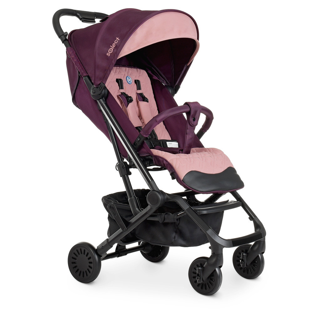 Коляска детская прогулочная SELECT ME 1070 Plum розовый