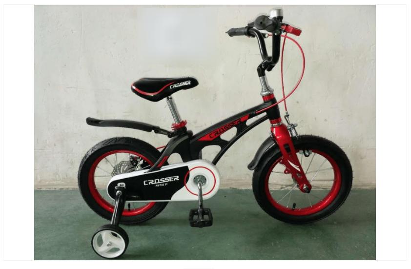 Велосипед двухколесный облегченный Crosser Magnesium Bike Space 14 дюймов черный