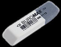 Ластик с абразивной частью белый 55*14*8mm Buromax BM.1119