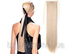 Шиньон хвост на Ленте Песочный блонд 26 см  Песочный блонд