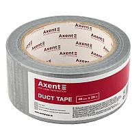 Скотч Лента клейкая упаковочная армированная  48ммх25 м  150 мкм Axent 3048-А серебро