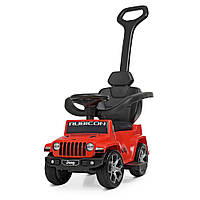 Электромобиль каталка толокар Bambi M 4247EL-3 Jeep с родительской ручкой красная