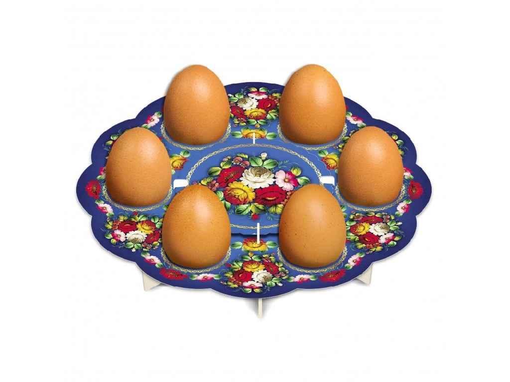 Декоративна підставка для яєць №6 Жостово (6 яєць) ТМEASTERS