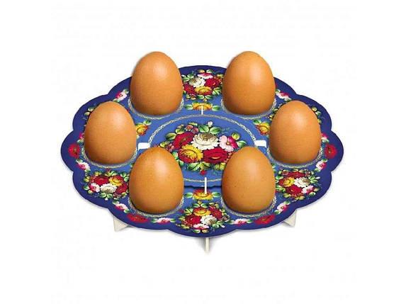 Декоративна підставка для яєць №6 Жостово (6 яєць) ТМEASTERS, фото 2