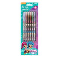 Ручка гелевая Гелевые ручки с глиттером набор 6шт Shimmer and Shine  SH19-037