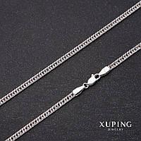 Цепочка Xuping плетение Панцерное L-45см s-3,3мм Родий