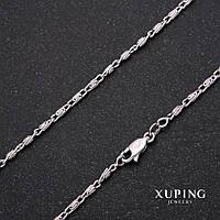 Цепочка Xuping плетение Мадлена L-45см s-2мм Родий
