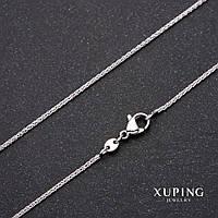 Цепочка Xuping плетение Жгут L-45см s-1,3мм Родий