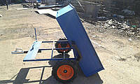Прицеп-самосвал БелМет 105х120 для квадроцикла (жигул. ступица, 1 мм), фото 1