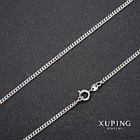 Цепочка Xuping плетение Панцерное L-60см s-2,1мм Родий